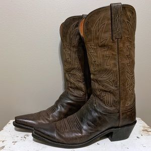 EUC Lucchese 1883 Mad Dog Goat Cowboy Boots 8.5